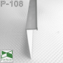 Белый алюминиевый плинтус со скрытой подсветкой Sintezal P-108W, высота 70мм.