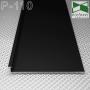 Скрытый плинтус алюминиевый с подсветкой Sintezal P-110В, высота 100 мм. Чёрный