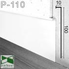 Белый алюминиевый плинтус со скрытой подсветкой Sintezal P-110W, высота 100 мм.