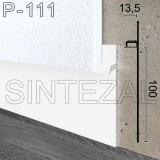 Белый алюминиевый плинтус скрытого монтажа Sintezal P-111W