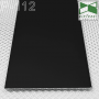 Чёрный дизайнерский плинтус под штукатурку Sintezal P-112В, выысота 100 мм.