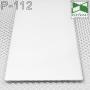 Белый дизайнерский плинтус под штукатурку Sintezal P-112W, высота 100 мм.