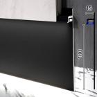 Скрытый LED-плинтус алюминиевый для  гипсокартона Sintezal P-114В, 100х13.5х2500 мм. Чёрный