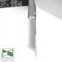 Скрытый алюминиевый плинтус Sintezal P-114 с направленной LED-подсветкой, 100х13,5х2500 мм.
