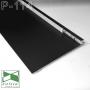 Чёрный алюминиевый плинтус под штукатурку с LED-подсветкой Sintezal P-114В, 100х13.5х2500 мм.