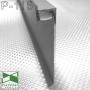 Скрытый алюминиевый плинтус с LED-подсветкой Sintezal P-115, H=80 мм.