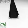 Черный скрытый плинтус с теневым пазом, 20х10х2500мм., Sintezal P-117B