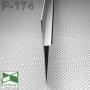 Черный алюминиевый плинтус скрытого монтажа Sintezal P-174В, высота 40/70 мм.