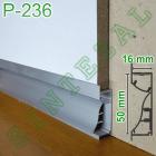 Встроенный алюминиевый плинтус с LED-подсветкой Р-236