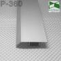Алюминиевый накладной плинтус для пола ARFEN Р-360, высота 60 мм.