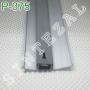 Алюминиевый плинтус для пола. Накладной плинтус ARFEN Р-375, высота 75 мм.