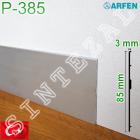 Ультра тонкий алюминиевый плинтус ARFEN Р-385, высота 85 мм.