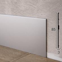 Ультратонкий алюминиевый плинтус для пола ARFEN Р-385, 85х3х3000 мм.