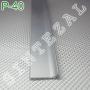 Плоский алюминиевый плинтус для пола Sintezal P-40, высота 40 мм.