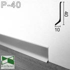 Плинтус алюминиевый накладной Sintezal 40х10х2700мм., анодированный P-40