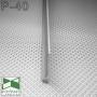 Плоский алюминиевый плинтус Sintezal P-40, h=40mm.