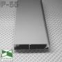 Скрытый алюминиевый плинтус Sintezal Р-55 для скрытых дверей, высота 60мм.