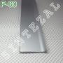 Алюминиевый плинтус для пола Sintezal Р-60, высота 60 мм.