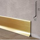 Алюминиевый плинтус накладной Profilpas Metal Line 90/6GS Золото Сатин, 60х10х2000мм., Италия