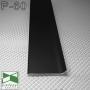 Черный алюминиевый плинтус для пола Sintezal P-60, высота 60 мм.
