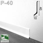 Белый алюминиевый плинтус Sintezal 40х10х2700мм. P-40W