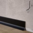 Чорний алюмінієвий плінтус для підлоги Sintezal P-63B, 40х17х2500мм.