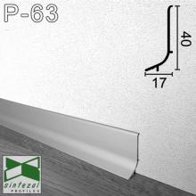 Плинтус алюминиевый накладной Sintezal 40х17х2500мм., анодированный P-63