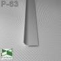 Плоский алюминиевый плинтус накладной Sintezal P-63, высота 40 мм.