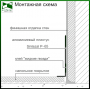 Белый алюминиевый плинтус Sintezal Р-65W, 60х14,5х2500мм.