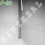 Плоский алюминиевый плинтус для пола Sintezal Р-80, высота 80 мм.