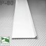 Плоский алюминиевый плинтус для пола Sintezal P-80W, Высота 80 мм. Белый