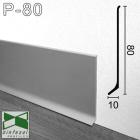 Алюминиевый плинтус для пола Sintezal 80х10х2500мм., анодированный. P-80