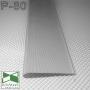 Алюминиевый плинтус для пола Sintezal P-80 80х10х2500мм., анодированный