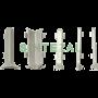 Белый алюминиевый плинтус для пола, высота 80 мм., Sintezal P-80W