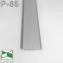 Накладной алюминиевый плинтус для пола Sintezal P-85, высота 80 мм., Серебро