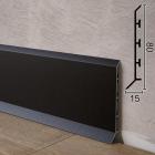 Чёрный алюминиевый плинтус для пола Sintezal P-85B 80х15х2500мм. H=80мм