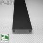 Прямоугольный плинтус алюминиевый Sintezal P-870B, высота 70 мм. Чёрный