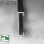 Накладной черный алюминиевый плинтус Sintezal® P-870B