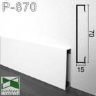 Белый алюминиевый плинтус Sintezal, 70х15х2500мм., P-870W