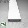 Прямоугольный напольный плинтус из алюминия Sintezal P-870W, 70х15х2500мм. Белый