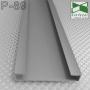 Накладной алюминиевый плинтус прямоугольный Sintezal P-89, высота 60 мм.