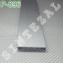 Прямоугольный алюминиевый плинтус для пола Sintezal Р-896, высота 60 мм.
