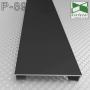 Прямоугольный алюминиевый плинтус Sintezal P-89B, высота 60 мм. Чёрный