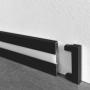 Чёрный алюминиевый плинтус с LED-подсветкой Sintezal, 60х10х2500мм. P-89LED-B