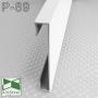 Белый алюминиевый плинтус накладной Sintezal® P-89W, H=6см.