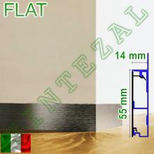 Алюминиевый встроенный плинтус Progress PROSKIRTING FLAT, высота 60 мм.