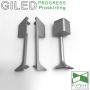 Напольный алюминиевый плинтус с подсветкой, Progress PROSKIRTING GILED