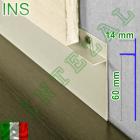 Алюминиевый плинтус под гипсокартон Progress PROSKIRTING INS