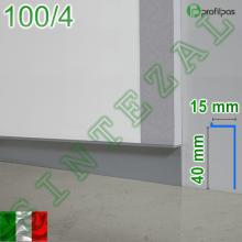 Алюминиевый плинтус скрытого монтажа Profilpas Metal Line 100/4