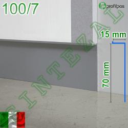 """Скрытый плинтус """"парящие стены"""" Profilpas Metal Line 100/7, высота 70 мм."""